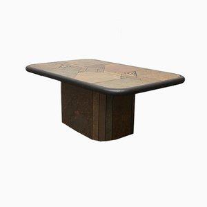 Vintage Brutalist Stone Coffee Table