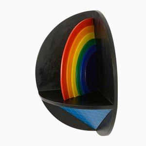 Wandskulptur Regenbogen von Lucio Del Pezzo, 1977