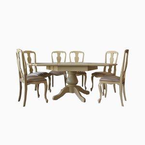 Table de Salle à Manger Extensible Hexagonale et Chaises par Willy Rizzo pour Mario Sabot, 1970s, Set de 8