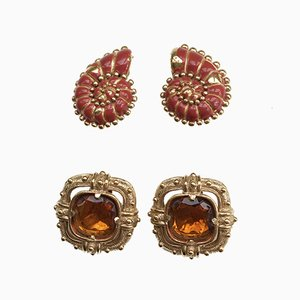 Earrings by Valentino, 1980s, Set of 4