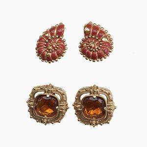 Ohrringe von Valentino, 1980er, 4er Set
