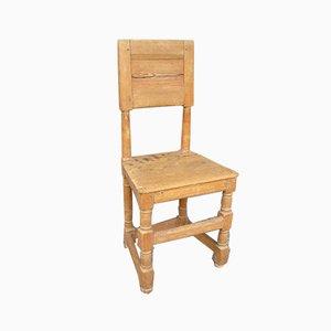 Scandinavian Rustic Wood Side Chair