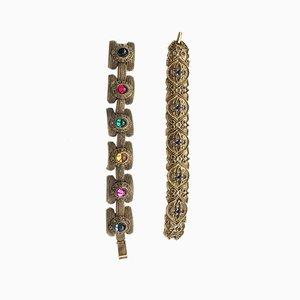 Vintage Armbänder im Art Deco Stil, 1970er, 2er Set