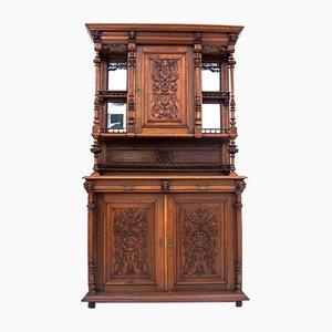 Antique French Oak Cupboard, Circa 1900