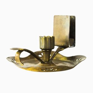 Austrian Art Deco Candleholder with Matchbox Holder for Wine Cellars, 1920s