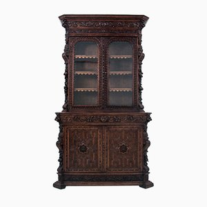 Antique French Carved Cupboard, Circa 1880