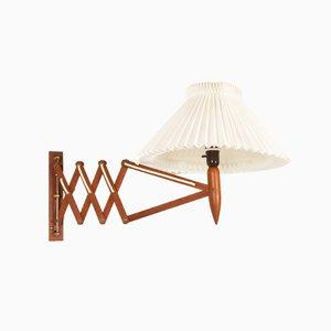 Dänische Vintage Teak Scissor Wandlampe von Lyfa, 1960er