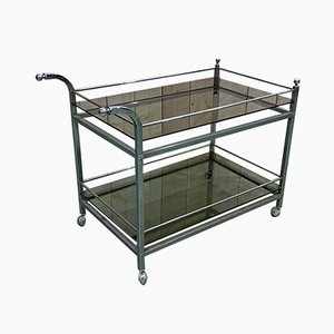 Chrome & Smoked Glass Trolley, 1970s