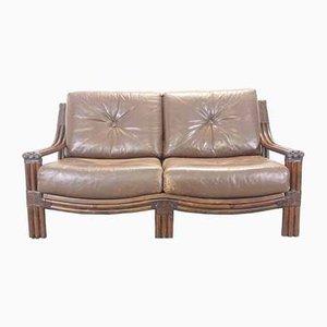 Vintage 1970s Style Rattan 2-Seater Sofa