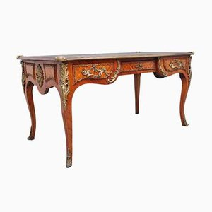 Antique French Kingwood Bureau Plat Desk, Early 1900s