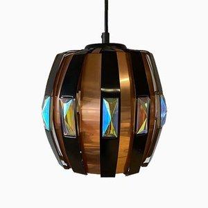 Iridescent Pendant Lamp by Verner Schou for Coronell Elektro, 1970s