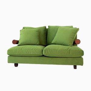 Grünes italienisches Vintage Samt Sofa von Antonio Citterio für B & B Italia / C & B Italia, 1980er