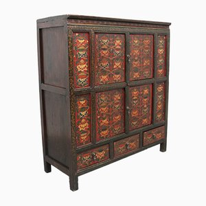 Tibetan Painted Side Cabinet, 1800s