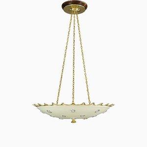 Big Austrian Ceiling Lamp by Rupert Nikoll for Emil Stejnar, 1950s