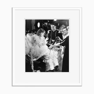 Flynn & Olivia on Set Acting Archival Pigment Print Framed in White by Everett Collection