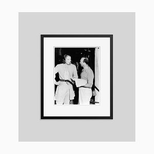 Errol Flynn & Michael Curtiz Archival Pigment Print Framed in Black by Everett Collection
