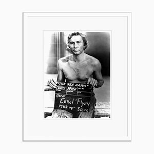 Errol Flynn Makeup Test Archival Pigment Print Framed in White by Everett Collection