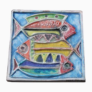 Ceramic Marlin Fish Plate by Giovanni Desimone, 1971