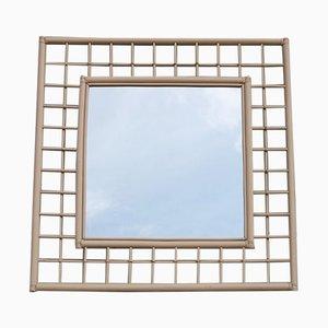 Großer Viereckiger Spiegel von Vivai del Sud Italia, 1970er