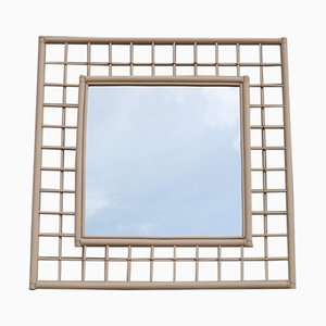 Large Square Mirror from Vivai del Sud Italia, 1970s