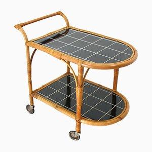 Rattan Bar Side Table, 1970s