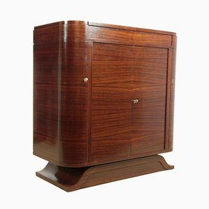 Cocktail Cabinet in Rosewood and Birds Eye Maple, 1930s