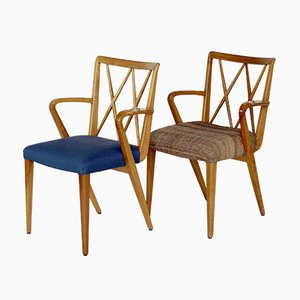Vintage Walnut Carver Dining Chairs by A. A. Patijn for Zijlstra Joure, 1950s, Set of 2