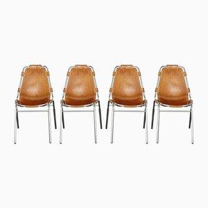 Mid-Century Les Arcs Stuhl aus Leder von Charlotte Perriand