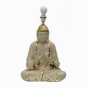 Italienische Porzellan Buddha Tischlampe von Zanotto, 1970er