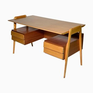 Mid-Century Italian Writing Desk with Four Drawers