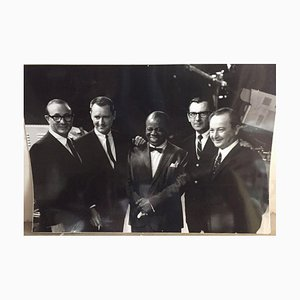 Photograph of Louis Armstrong in TV Broadcast