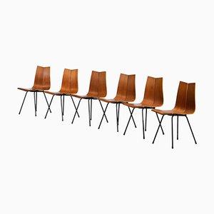 Model GA Chairs by Hans Bellmann for Horgen Glarus, Set of 6