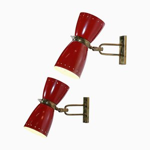 Sconces in the style of Jean Boris Lacroix, Set of 2