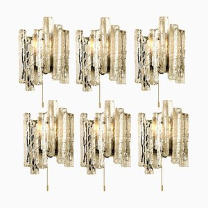 Ice Glass Wall Sconce, 1970s