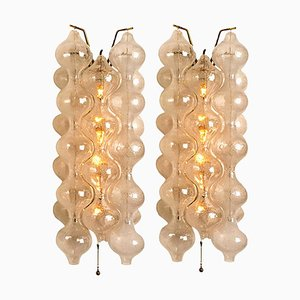 Large Tulipan Wall Lamps by J.T. Kalmar, 1960s, Set of 2