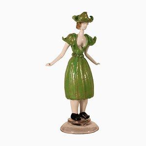 Figura femminile in vetro di Murano
