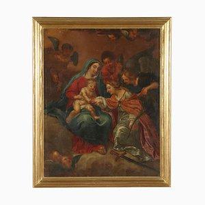 Mystic Marriage of Saint Catherine Canvas