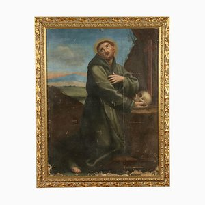 St Francis in Meditation Canvas