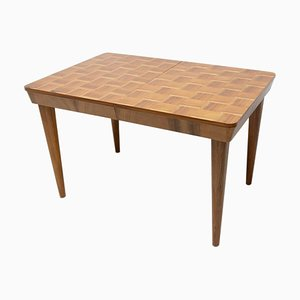 Mid-Century Adjustable Dining Table with Chess Pattern by Jindřich Halabala for UP Závody