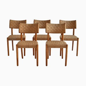 Model 1572 Dining Chairs by Karl Schroeder for Fritz Hansen, Denmark, 1930s, Set of 5