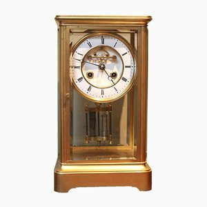 French Glass Clock with Bell