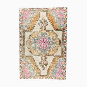 Orientalischer Vintage 4 × 7 türkischer Vintage Oushak Teppich aus Wolle