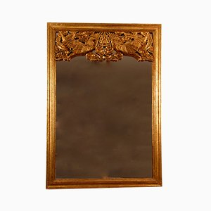 Chinese Ming Style or Hollywood Regency Carved Giltwood Mirror, 1940s