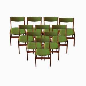Mid-Century Dining Chairs by Erik Buch, Set of 10