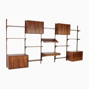 Rosewood Wall Unit by Poul Cadovius for Cado Denmark, 1960s