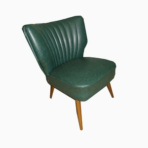 Green Leatherette Cocktail Chair, 1950s