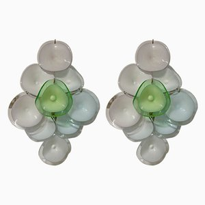 Murano Glass Disc Sconces, 1970s, Set of 2