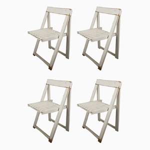 Mid-Century Folding Chairs by Aldo Jacober, Set of 4