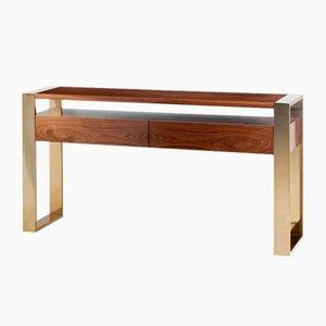 Table Console en Fer avec Pieds en Laiton par Mambo Unlimited Ideas