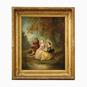 Signed Painting, Oil on Canvas, 19th Century